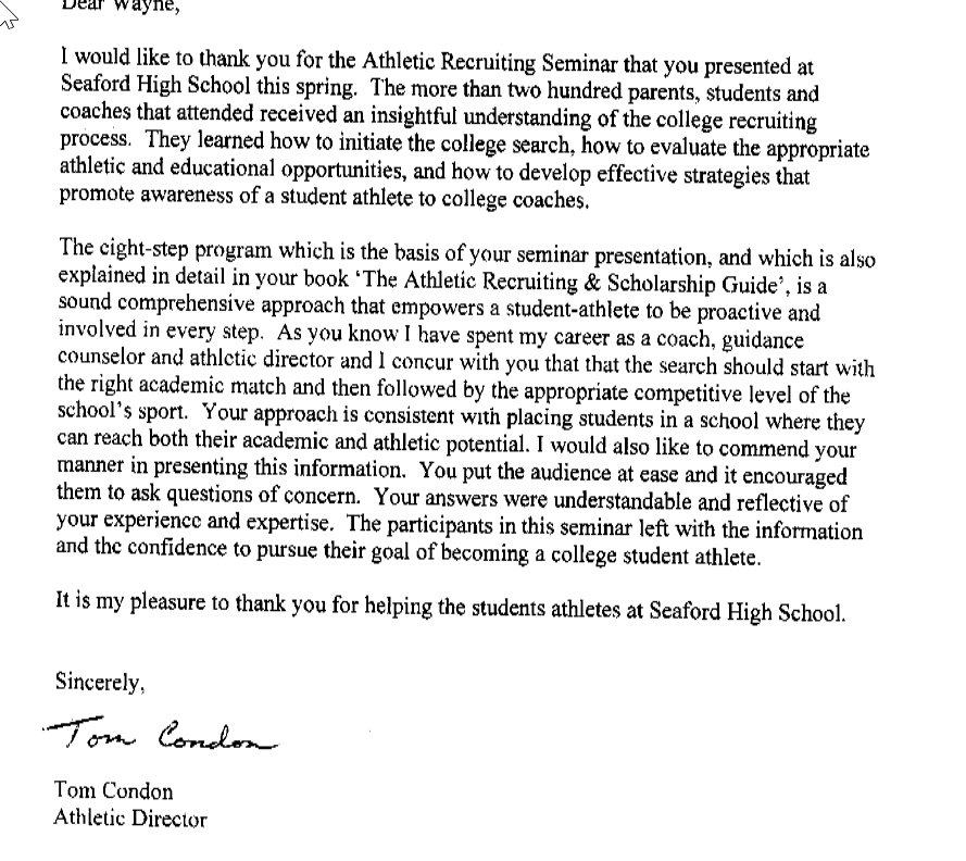 sample letter to college coaches for recruiting recruit craft 24637 | 2015 10 02 21 55 14 null TomCondonletter.pdf